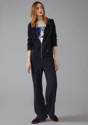 Giorgio Armani Sweatsuit With Sweatshirt And Trousers In Pure Cashmere