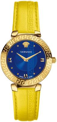 Versace Daphnis Stainless Steel Leather-Strap Watch
