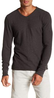 Rogue Cotton Club V-Neck Long Sleeve Knit Tee