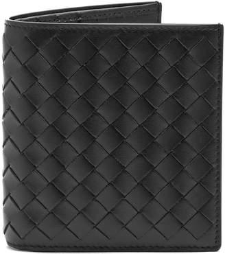 BOTTEGA VENETA Intrecciato bi-fold leather wallet $270 thestylecure.com