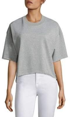 KENDALL + KYLIE Grommet Drop Shoulder Heathered Pullover