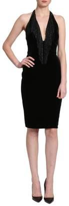 Badgley Mischka Sleeveless Velvet Dress