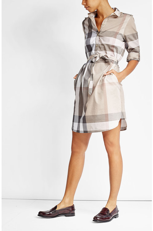 Burberry Burberry London Printed Cotton Shirt Dress