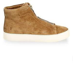 Frye Women's Lena Zip Suede High-Top Sneakers