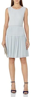 REISS Justyna Plisse Skirt Dress $330 thestylecure.com