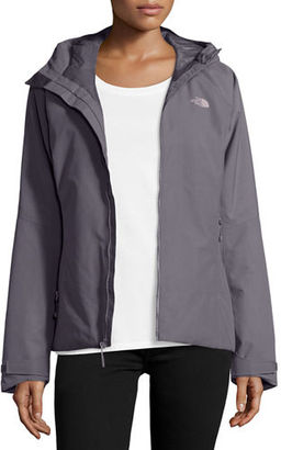 The North Face Hooded Waterproof Zip-Front Jacket $299 thestylecure.com