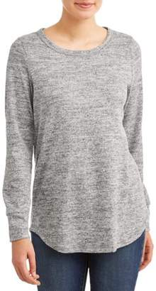 Attitude Unknown Women's Super Soft Marled Long Sleeve T-Shirt