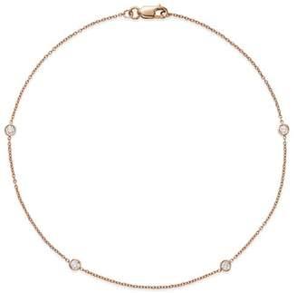 Bloomingdale's Diamond Bezel Ankle Bracelet in 14K Rose Gold, 0.20 ct. t.w. - 100% Exclusive