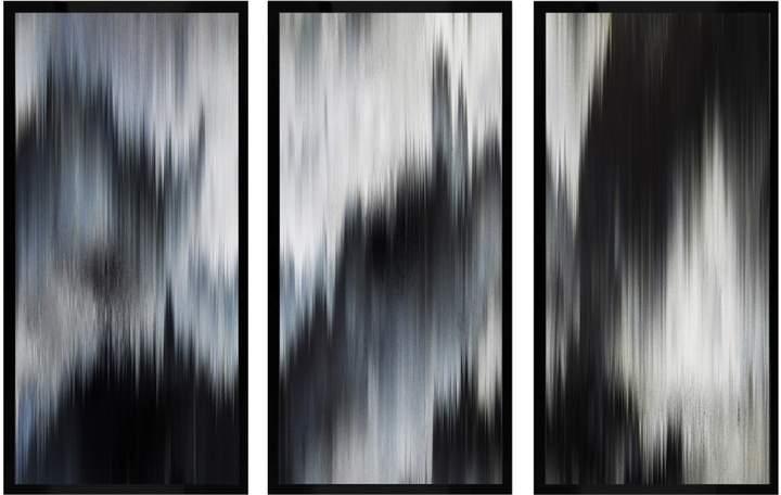 Eleganza Noir Triptych (Canvas)