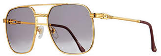 Vintage Frames Company Men's Gold-Plated Aviator Sunglasses