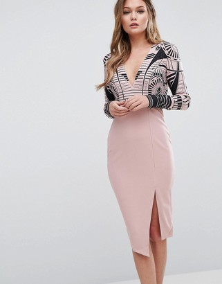 Ginger Fizz 2 in 1 Printed Midi Dress $55 thestylecure.com