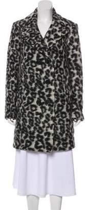 Rebecca Minkoff Double-Breasted Leopard Coat
