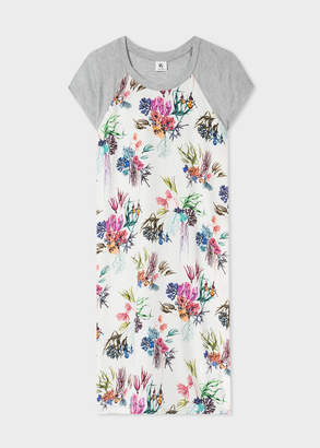 Paul Smith Women's Grey 'Flowers' Print Jersey Dress
