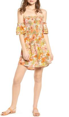 Billabong Dancing Sun Off the Shoulder Minidress