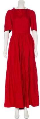 Lanvin Linen & Silk Dress