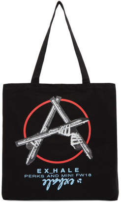 Perks And Mini SSENSE Exclusive Black Anarchy Tote
