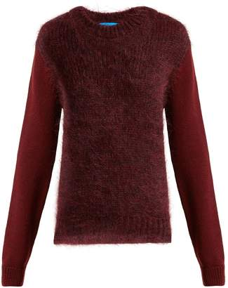 MiH Jeans Dawes contrast-panel wool-blend sweater