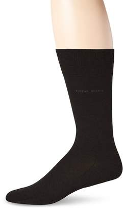 HUGO BOSS Men's Paul Solid Mercerized Crew Sock