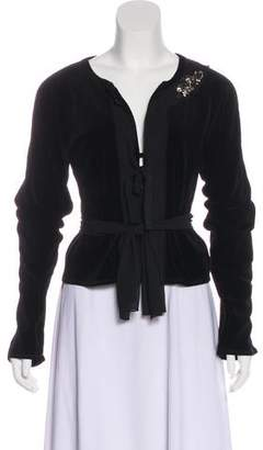 Sonia Rykiel Embellished Velvet Jacket