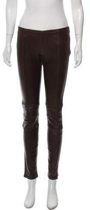 Givenchy Low-Rise Leather Leggings