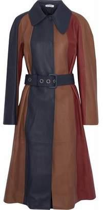 Jil Sander Paneled Color-Block Leather Jacket