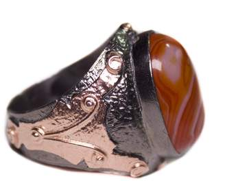 Express Falcon Jewelry Sterling Silver Byzantium Men Ring, ( stone will be similar ) Natural Agate Gemstone, amethyst, jade gemstone , handmade, Shipping