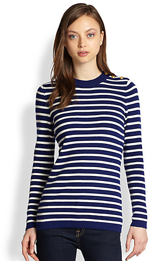 Demy Lee Madison Striped Cashmere Sweater