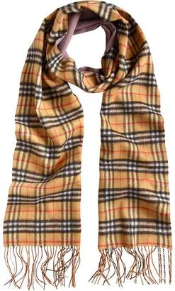 Burberry cashmere double faced check scarf