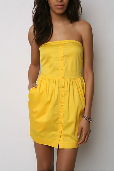 Silence & Noise Strapless Tulip Dress
