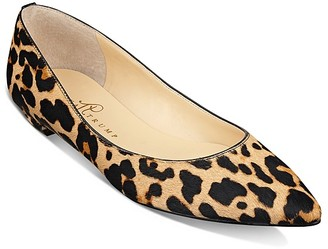 IVANKA TRUMP Tizzy Pointed Leopard Calf Hair Flats $120 thestylecure.com