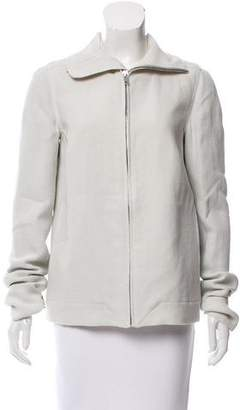 Rick Owens Linen Zip-Up Jacket w/ Tags