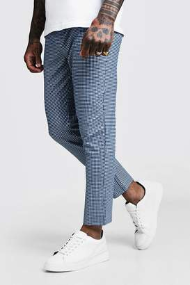 boohoo Mini Gingham Smart Cropped Jogger