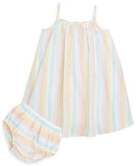 Petit Lem Baby Girl's Two-Piece Striped Dress and Bloomer Set