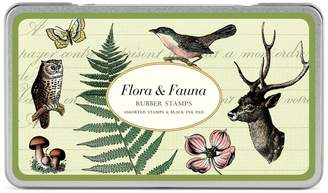 Cavallini & Co. Rubber Stamps Flora and Fauna, Assorted with Ink Pad