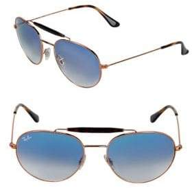 Ray-Ban 55MM Browline Aviator Sunglasses