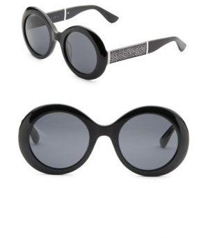 Jimmy ChooJimmy Choo Wendy 51MM Oval Metallic Sunglasses
