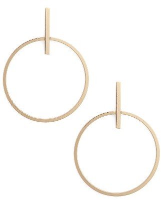 Women's Nordstrom Frontal Hoop Earrings $35 thestylecure.com