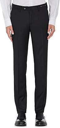 Pt01 Men's Wool Twill Super-Slim Trousers - Black