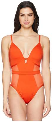 Kenneth Cole Sexy Solids Push-Up Mio One-Piece Women's Swimsuits One Piece