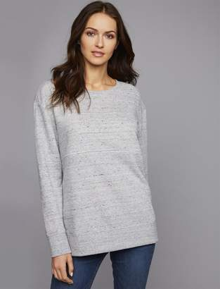 A Pea in the Pod Relaxed Fit Zip Front Nursing Top