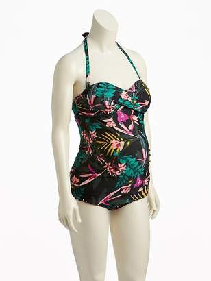 Old Navy Maternity Twist-Front Bandeau Tankini Top