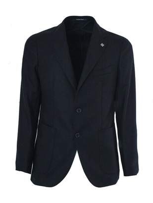 Tagliatore Dark Blue Wool And Cashmere Jacket.