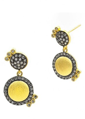 Women's Freida Rothman Baroque Blues Pave Drop Earrings $160 thestylecure.com