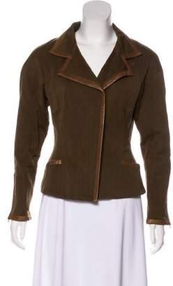 Isabel Marant Notch-Lapel Leather-Trimmed Blazer