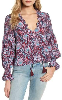 Rebecca Minkoff Penelope Floral Ruffle Top