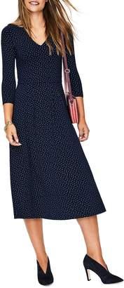 Boden Coraline Metallic Dot Stretch Jersey Dress