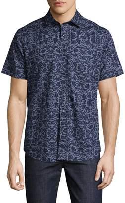 Slate & Stone Men's Floral Cotton Sportshirt