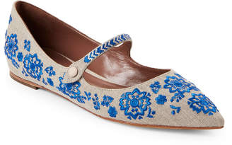 Tabitha Simmons Hermione Fest Embroidered Mary Jane Flats