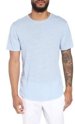 Vince Raw Hem Linen & Cotton T-Shirt