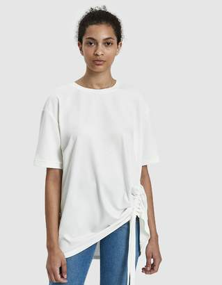 Which We Want Riki Oversize Ruched Tee in White